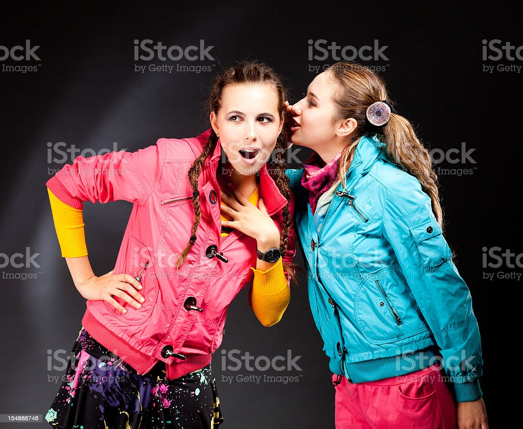 Gossip royalty-free stock photo