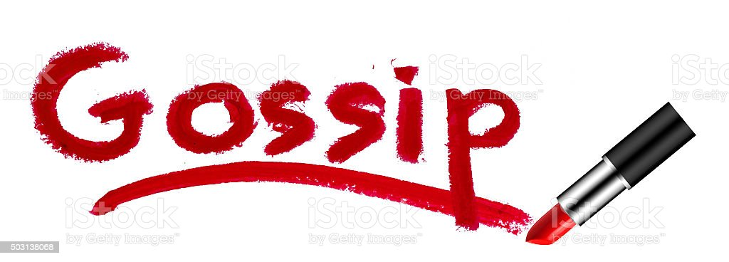 Gossip Red Lipstick stock photo