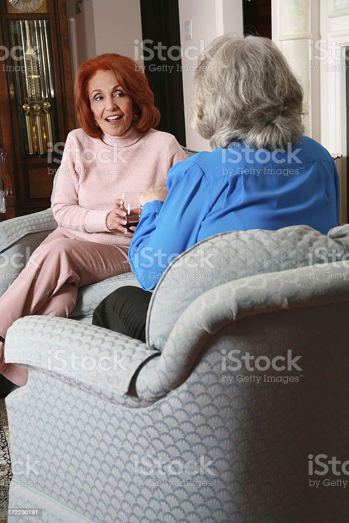Gossiping Ladies royalty-free stock photo