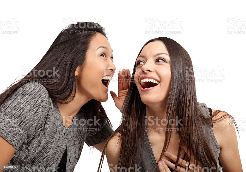 Gossiping royalty-free stock photo