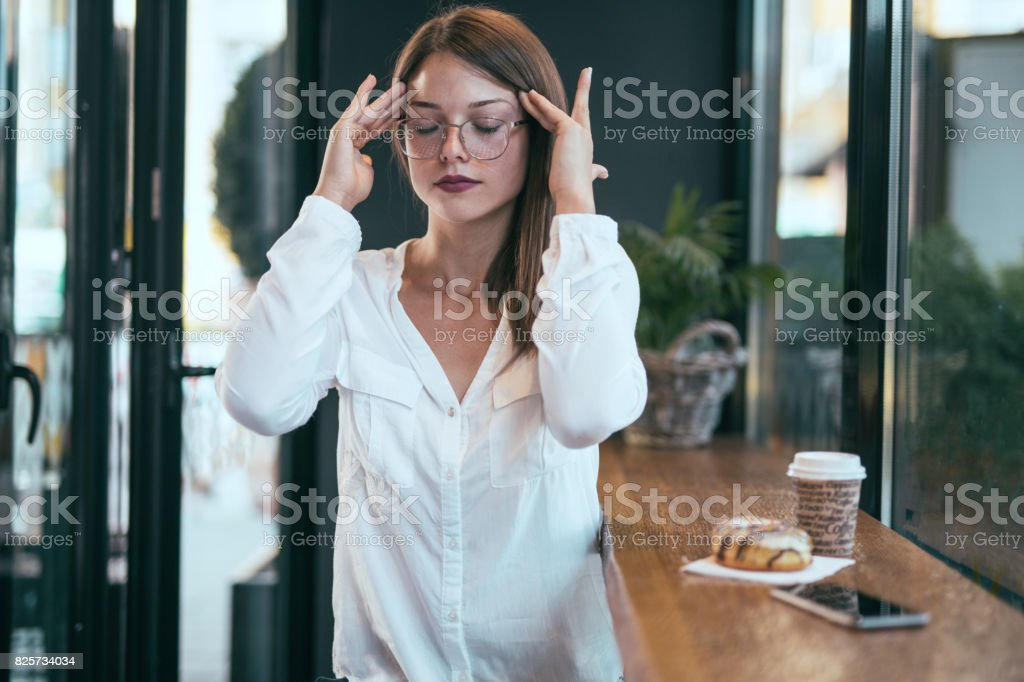 Got a headache stock photo
