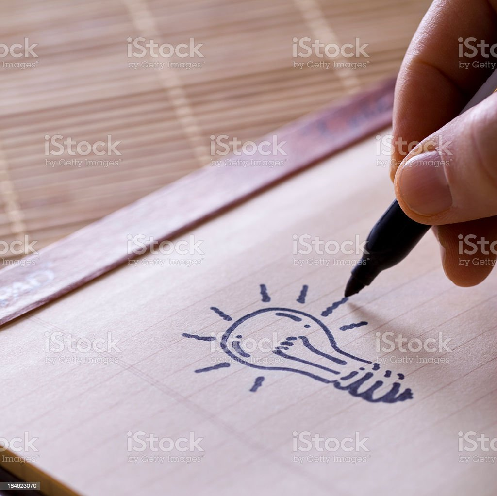 Got an idea! stock photo