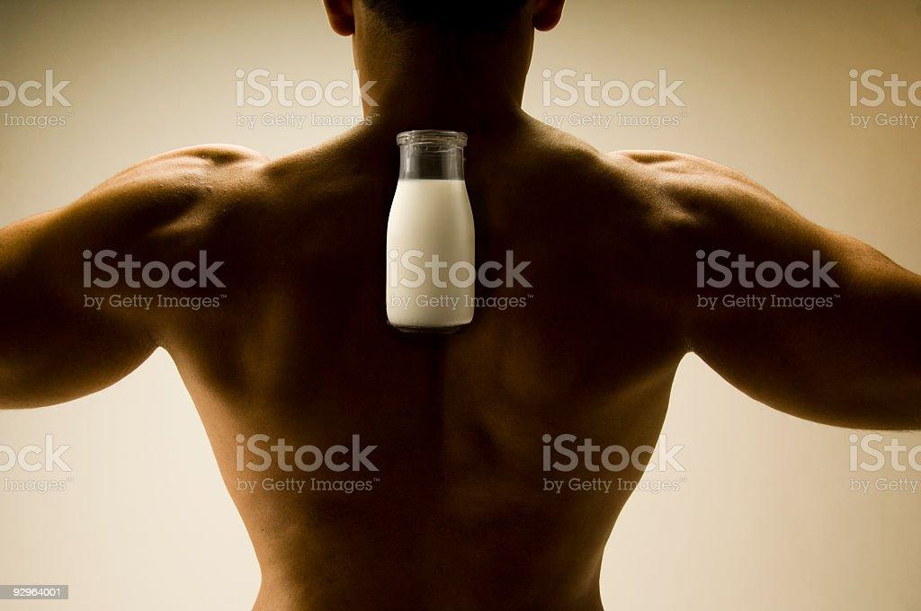 Got Milk for my Muscle? royalty-free stock photo