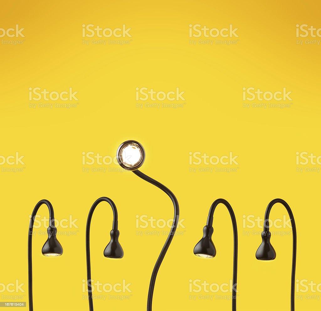 Got the bright idea. stock photo