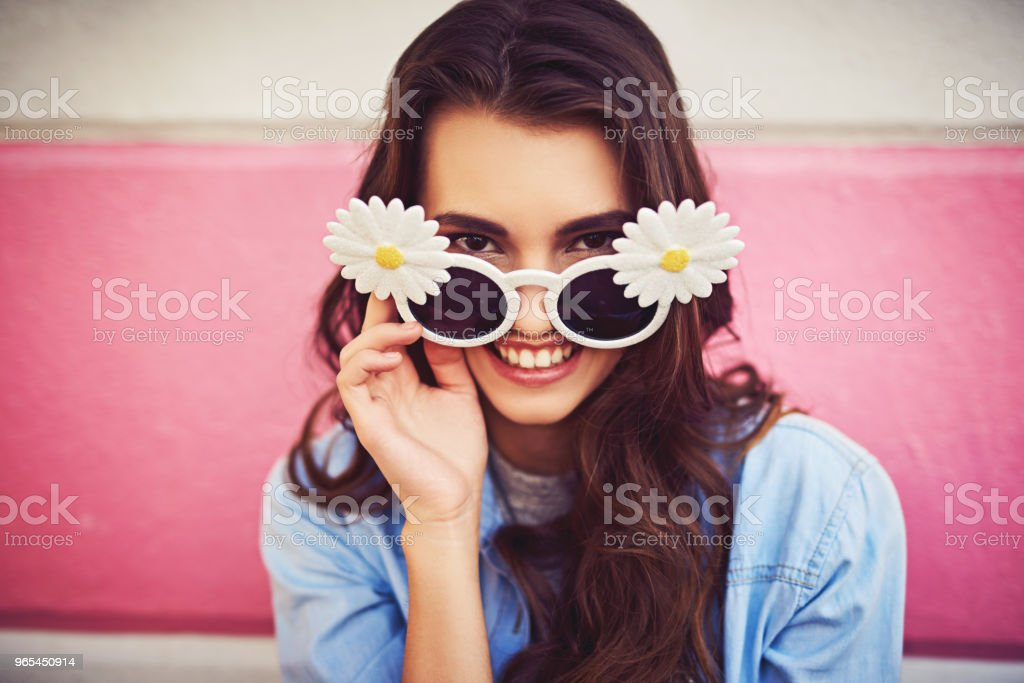 I got the funkiest sunglasses in town royalty-free stock photo