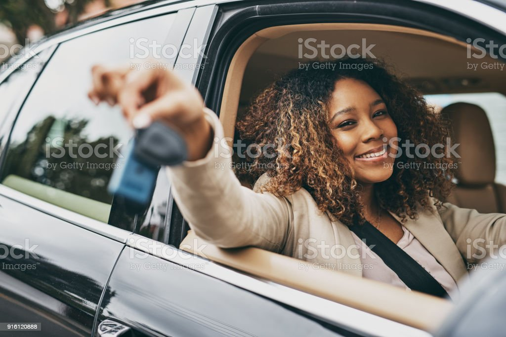 Got the keys and the car, now just the location stock photo