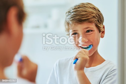 948443044istockphoto Got to brush those teeth in the morning 948443252
