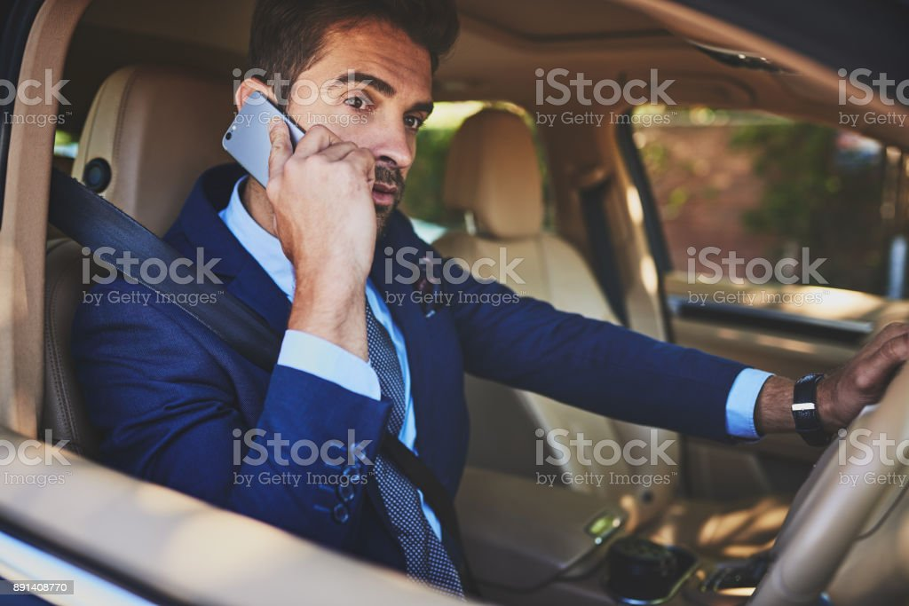 Got to get to work quickly stock photo