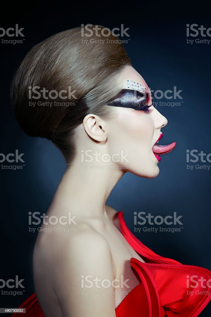 goth and fashion stock photo
