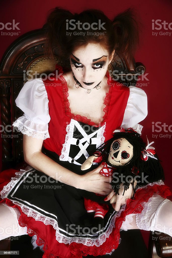 Goth Doll Woman royalty-free stock photo