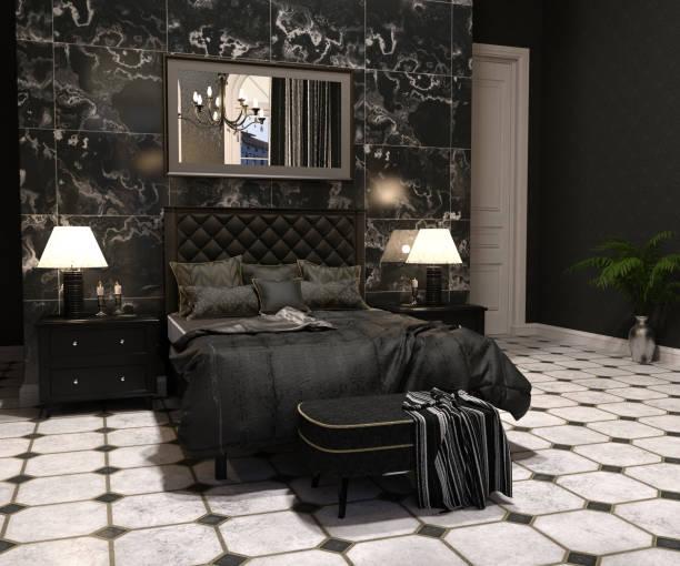 goth-wohnzimmer - damast wand stock-fotos und bilder