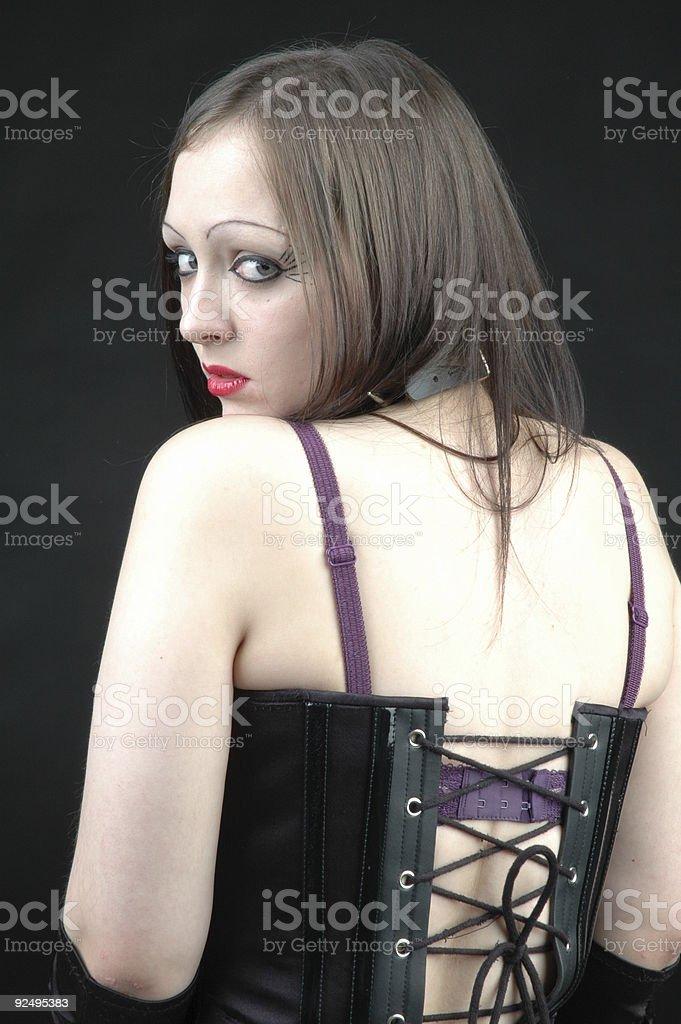 Goth Queen stock photo