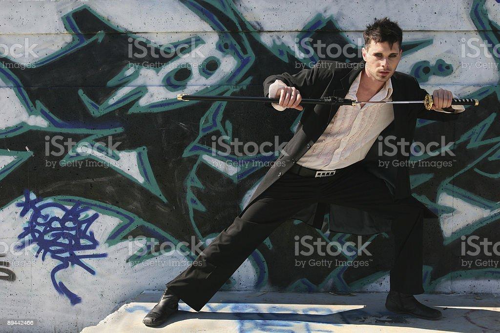 Goth Swordsman 3 royalty-free stock photo