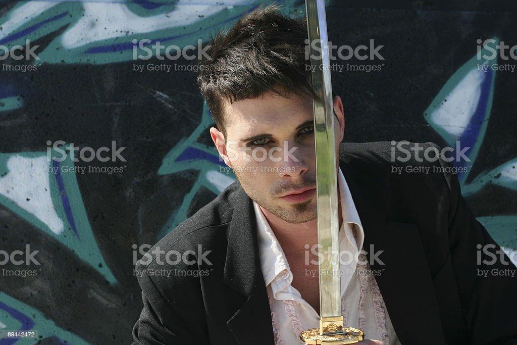 Goto Swordsman foto stock royalty-free