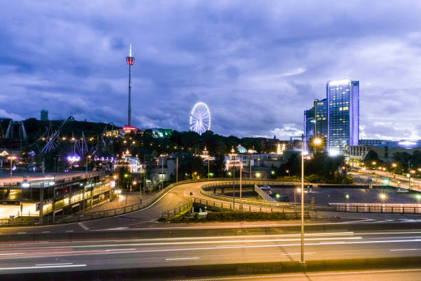 göteborg på natten - liseberg bildbanksfoton och bilder