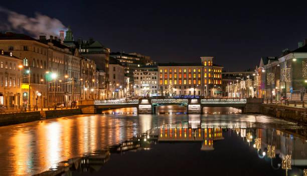 Gothenburg big canal stock photo