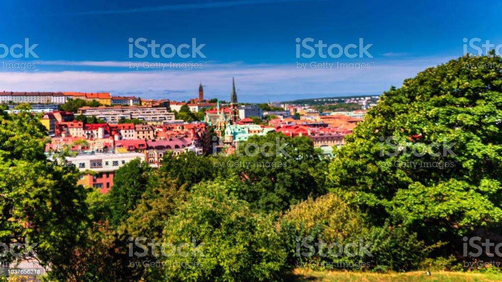 Gothenburg city as seen from Skansen kronan during midday.Gothenburg ,Sweden stock photo
