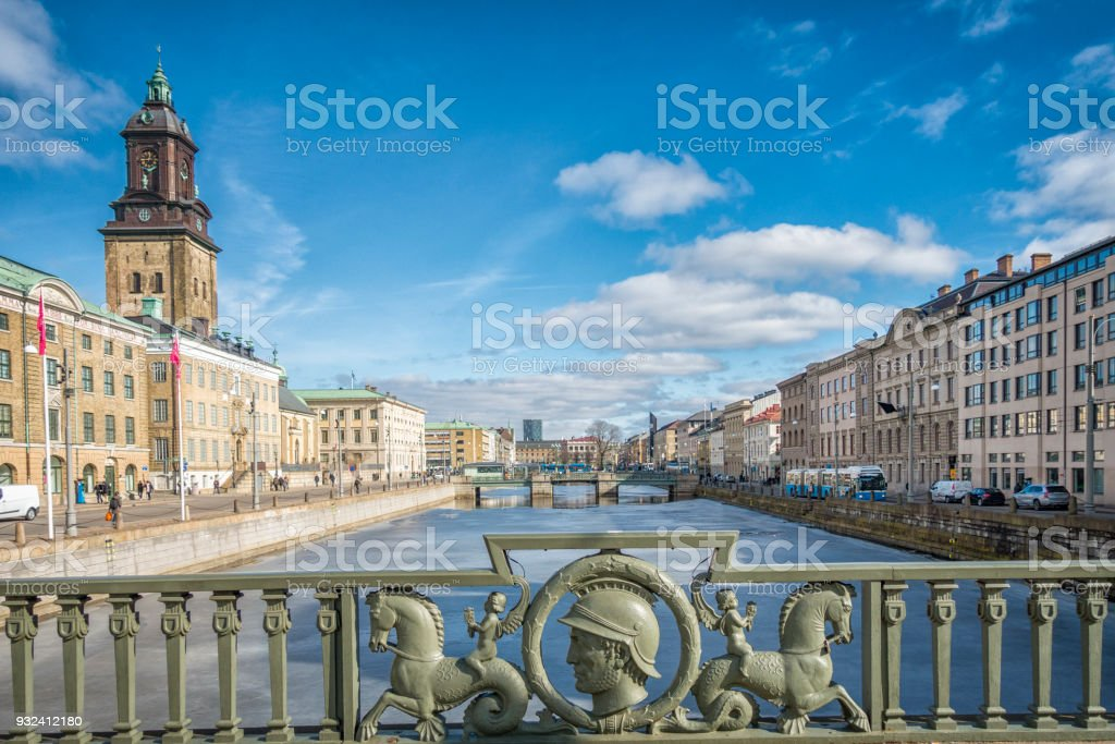 Gothenburg city great canal stock photo
