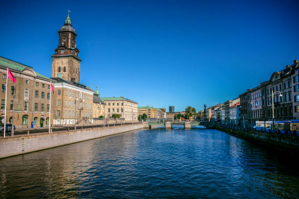 Gothenburg City Hall and the German Church, Sweden stock photo