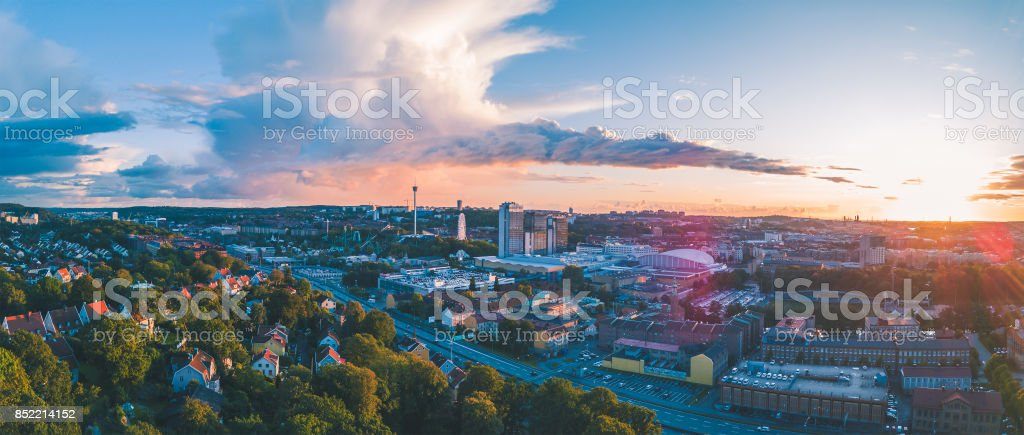 Gothenburg City Panorama stock photo