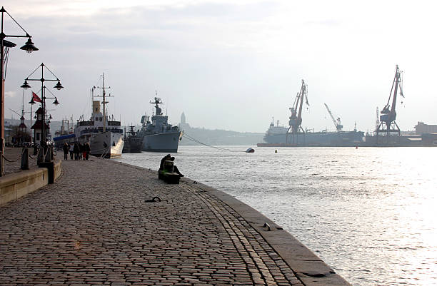 Gothenburg harbour stock photo