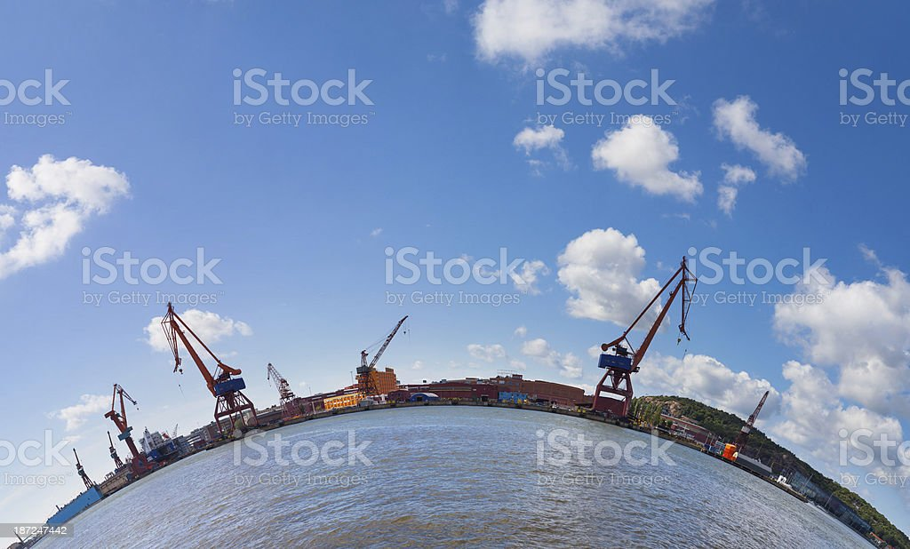 Gothenburg harbour royalty-free stock photo