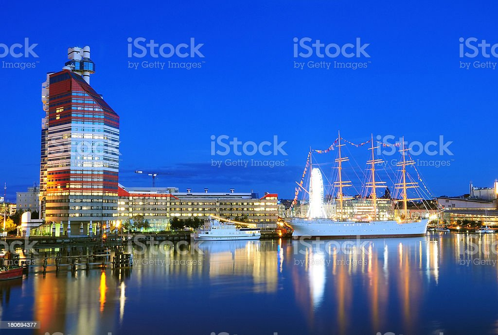 Gothenburg in Night stock photo