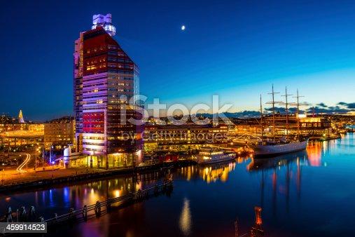 Long exposure of Gothenburg / Göteborg city.
