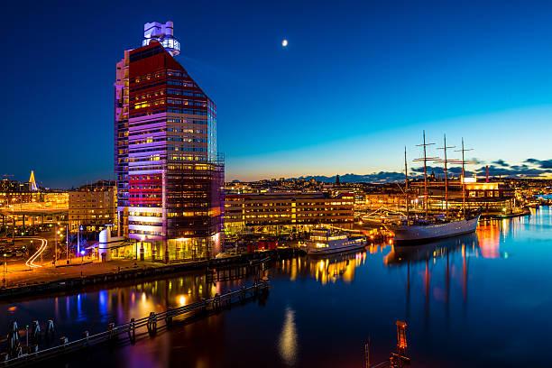 Gothenburg in the evening stock photo