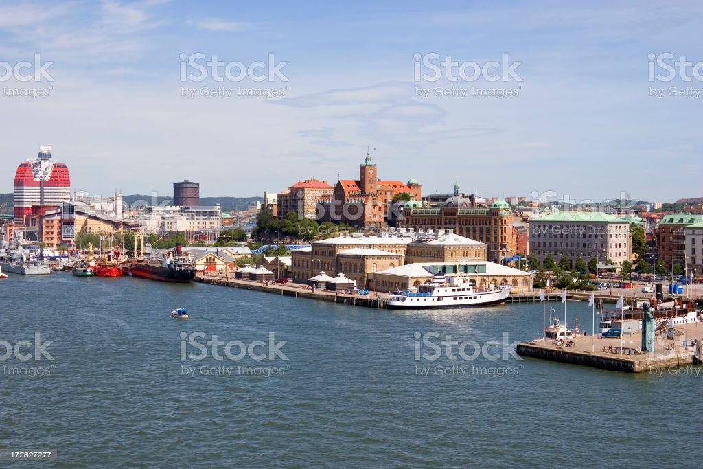 Gothenburg skyline stock photo