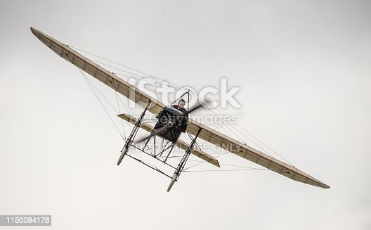 Gothenburg, Sweden - August 29 2010: Bleriot XI at the Gothenburg Aero Show