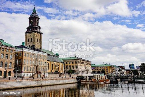 Gothenburg, Sweden  The Gothenburg City Hall on the Stora Hamnkanalen