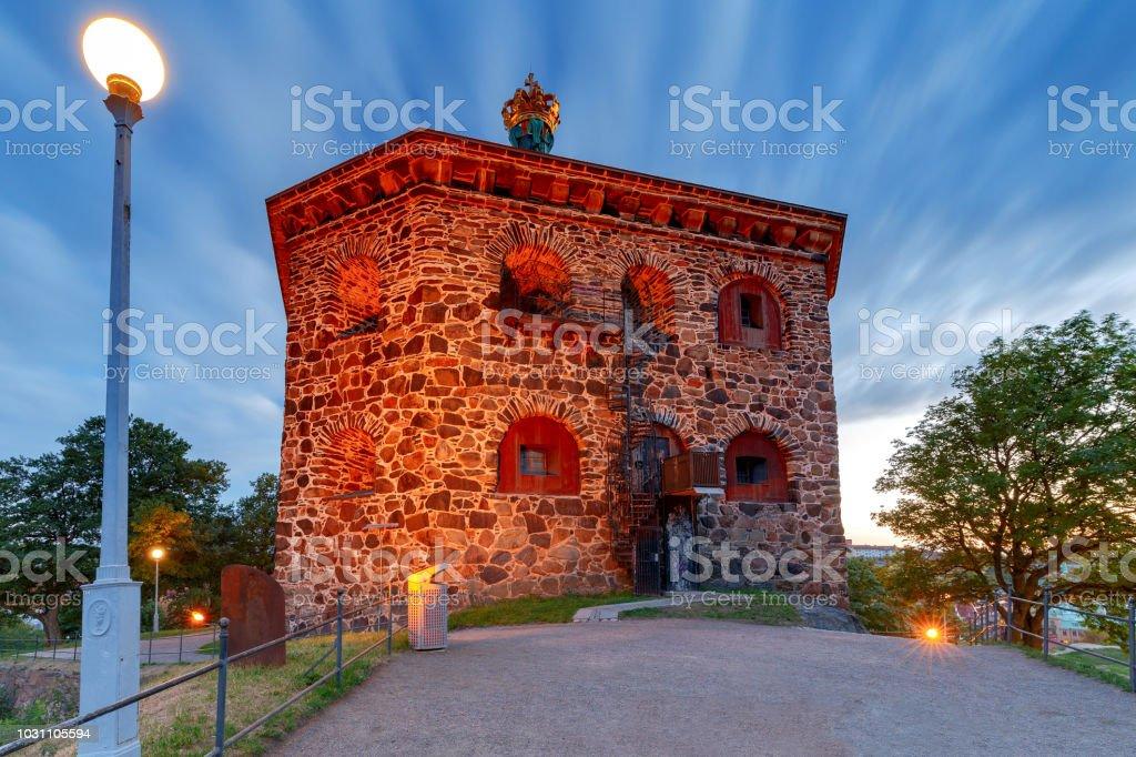 Gothenburg. The Tower Skansen Cronan. stock photo