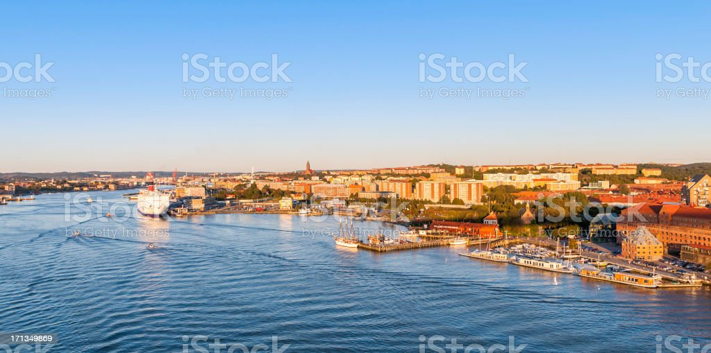 Gothenburg, view from city bridge stock photo