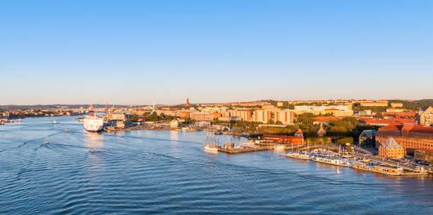 Gothenburg, view from city bridge stock photo