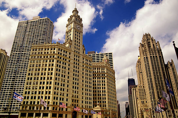Gothic American Downtown Chicago stock photo