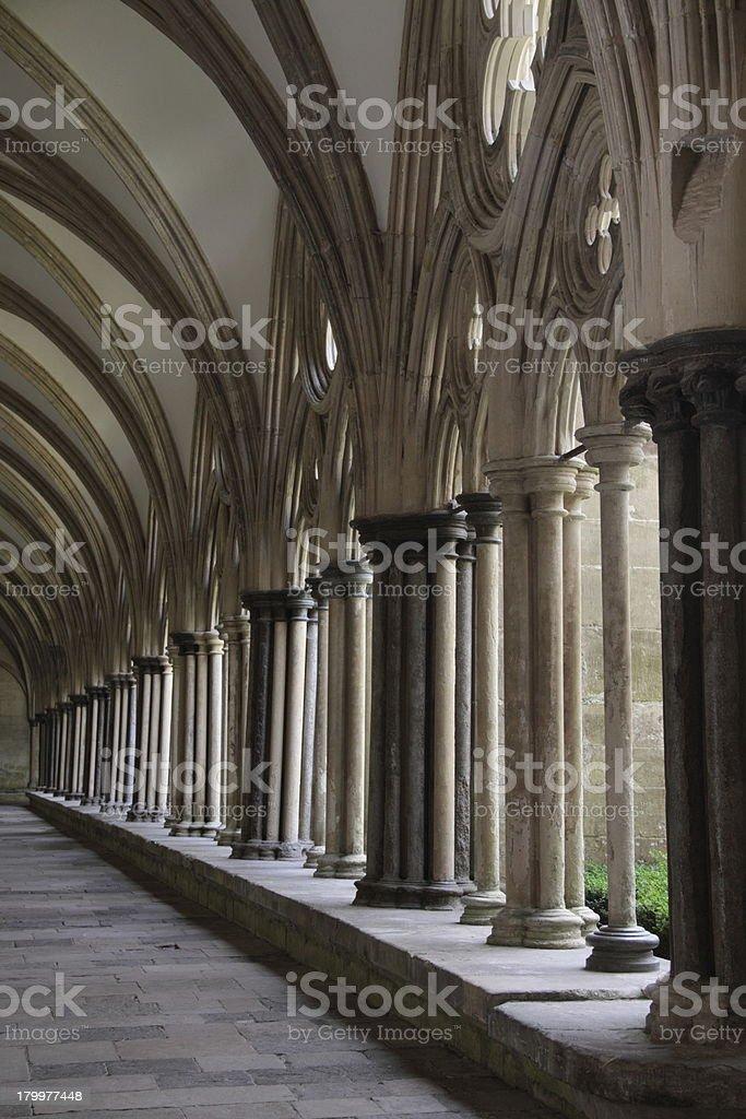 Gothic arcades royalty-free stock photo