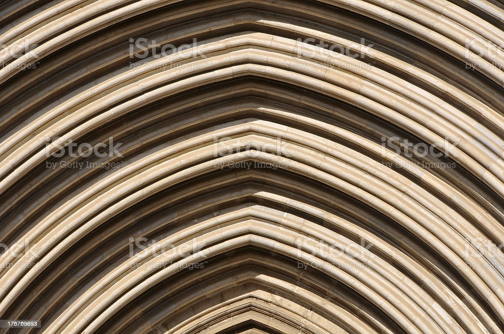 Gothic arch royalty-free stock photo