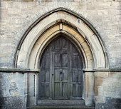 An Arched Church Doorway In Selsley, England