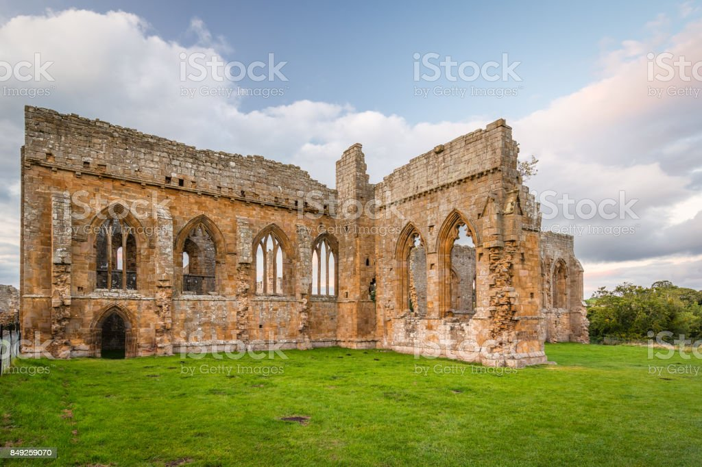 Gothic Arches of Egglestone Abbey stock photo