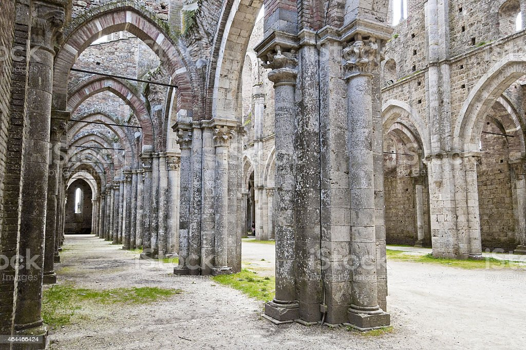 Gothic architecture of a church stock photo