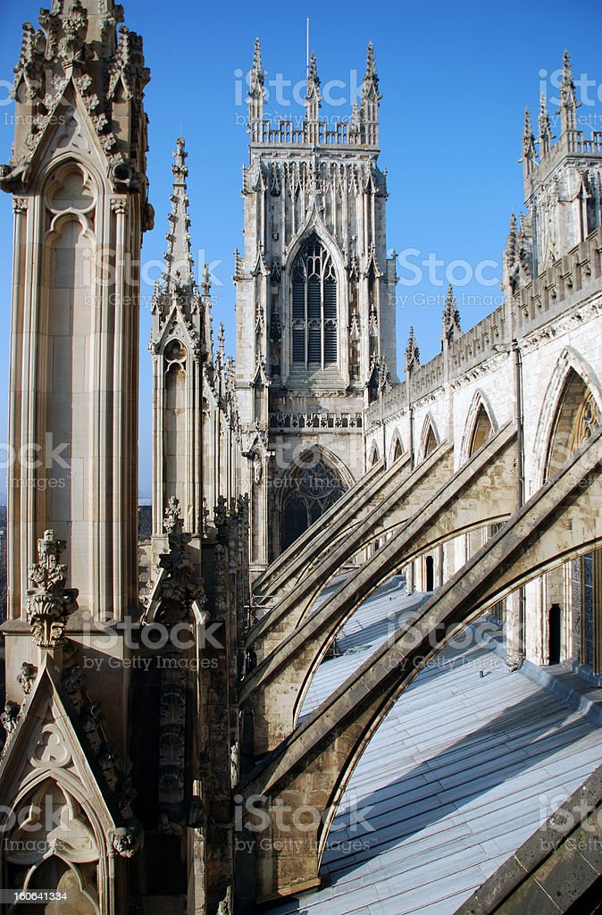 Gothic Architecture of York Minster royalty-free stock photo