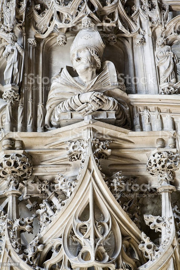 Gothic Carvings royalty-free stock photo