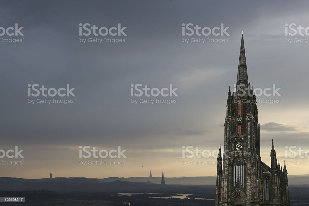 gothic castle royalty-free stock photo