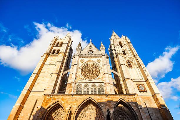 Gótica catedral de león, Castilla León, España - foto de stock