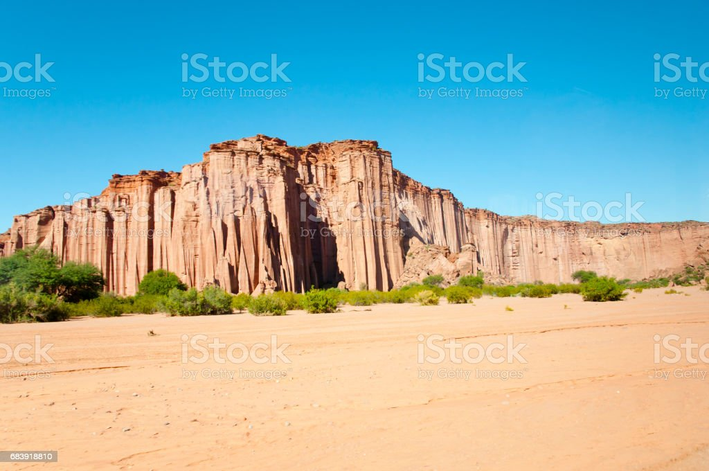 Gothic Cathedral Rock Formation - Talampaya National Park - Argentina stock photo