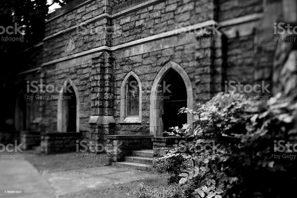 Gothic cemetery vaults royalty-free stock photo