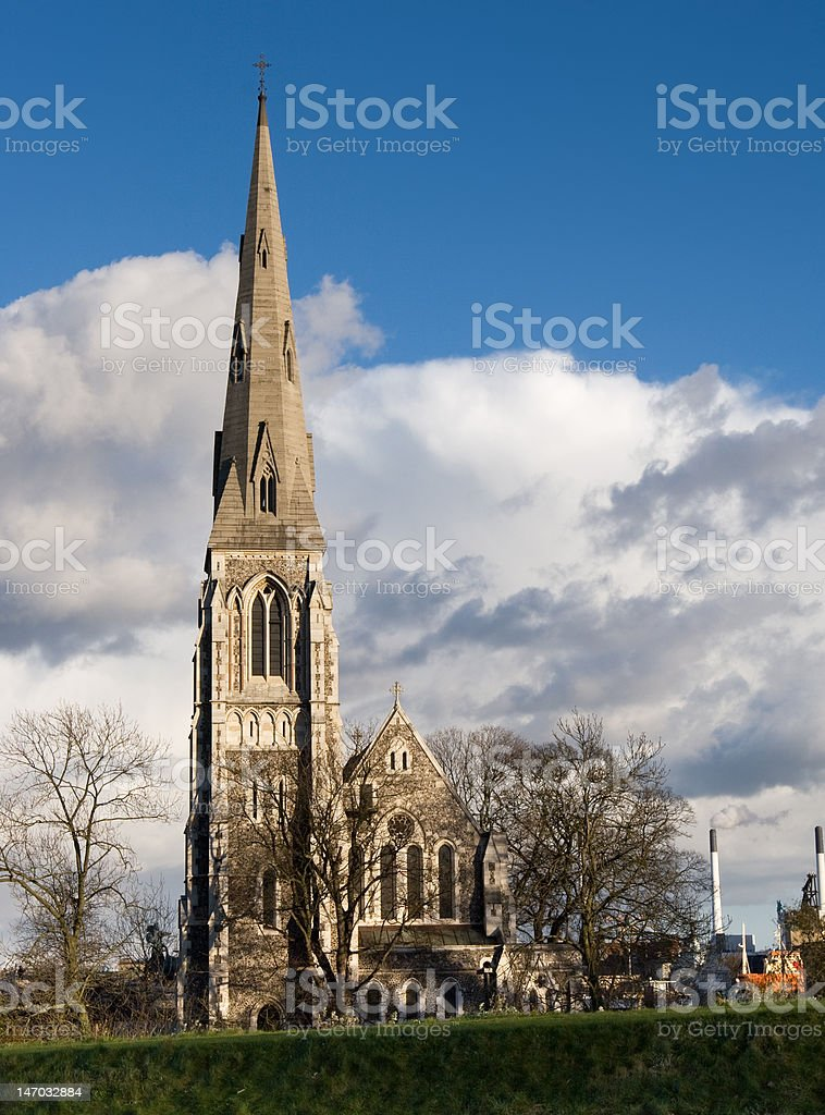 Gothic Church in Copenhagen stock photo