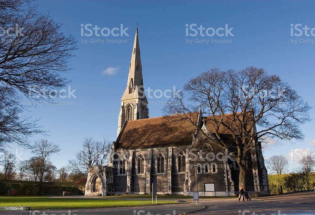 Gothic Church in Copenhagen royalty-free stock photo