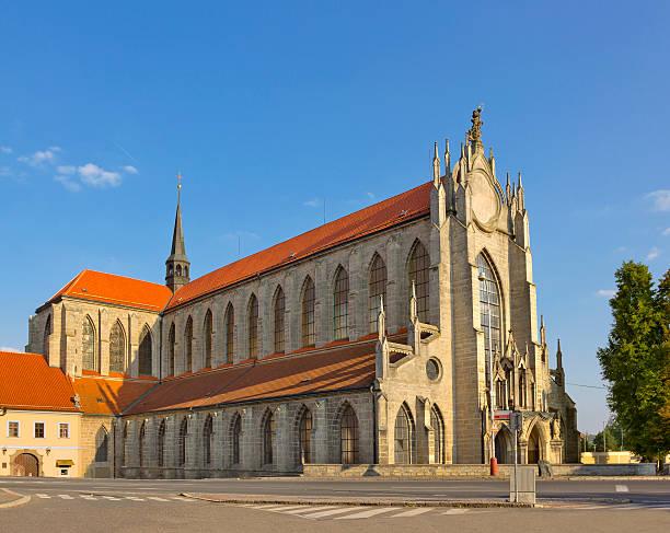 gothic church of our lady in kutna hora, czech republic - ferragosto foto e immagini stock